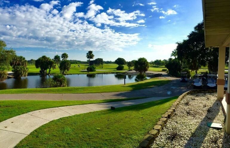 Blue skies over the course at Manatee Golf Course